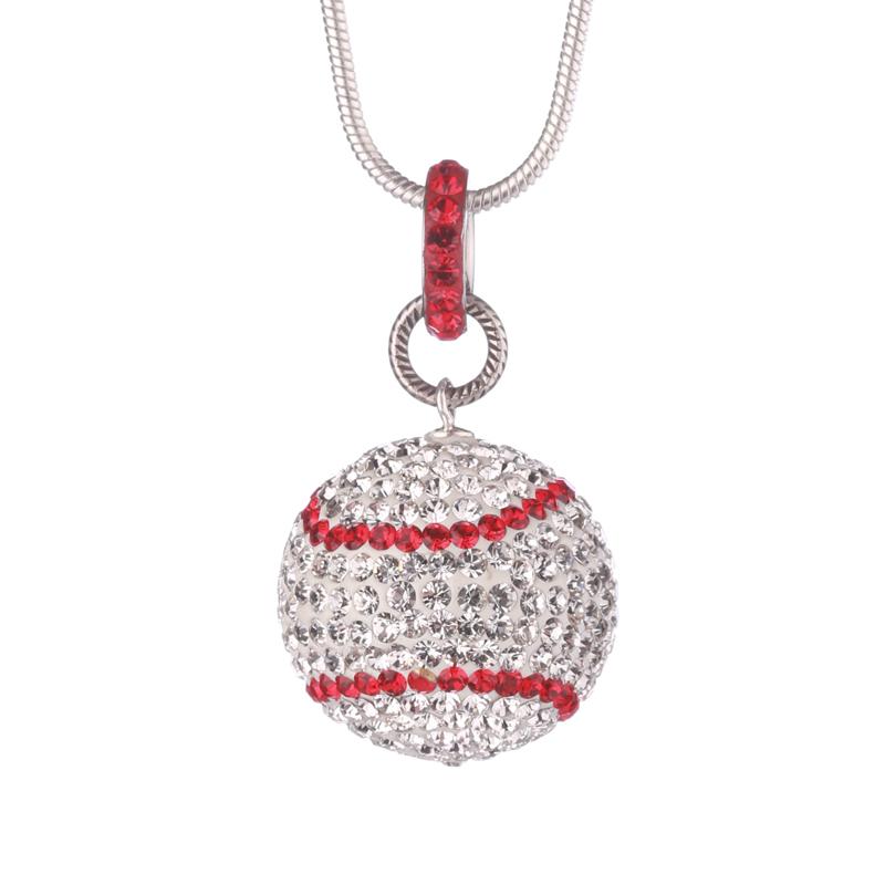 Large Baseball Necklace