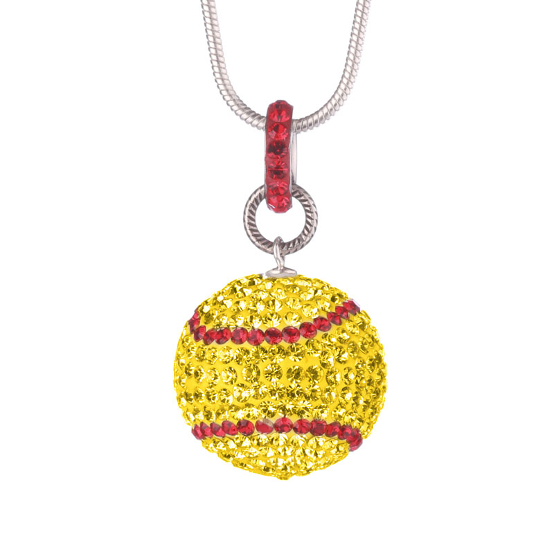 Large Softball Necklace