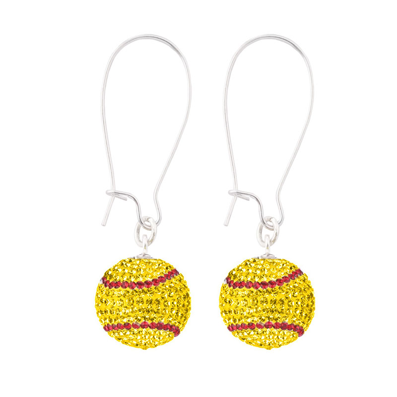 softball earrings archives gameday fusion